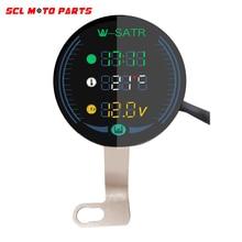 ALconstar-Racing Motorcycle 3-in-1 Night Vision Voltmeter Volt Gauge Display Table LED Volt Meter Waterproof 9-24V