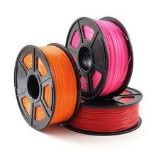 Material plástico dos materiais de consumo do abs do filamento 1.75mm 1kg/2.2lb da impressora 3d para a impressora 3d e o filamento do abs da pena 3d