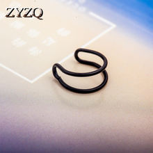 Zyzq простой двухслойный Открытый зажим для ушей женщин три