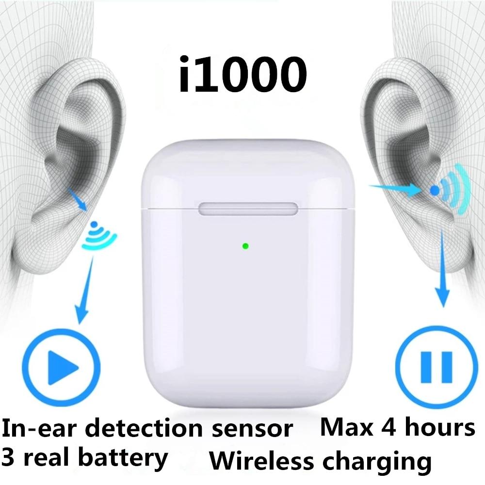 Original I1000 TWS Aire 2 Replica 1:1 Bluetooth Earphone Wireless Headphones 5D Super Bass Earbuds Pk I30 I60 I80 I200 I500 Tws
