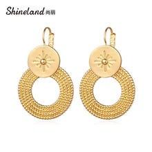 Shineland массивные круглые серьги с большим металлическим кольцом