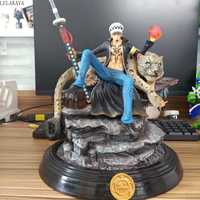 Japan Anime One Piece Trafalgar D Water Law GK Leopard Statue PVC Action Figure Collection Model Toys Luffy Sanji Dropshipping