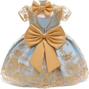 Кружевное платье принцессы для маленьких девочек; Вечерние комплекты для дня рождения и От 1 до 2 лет; Платье для первого крещения для новорожденных; Рождественский костюм Белоснежки
