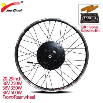 Zestaw do zamiany na rower elektryczny 20-29 cal 700C zestaw do konwersji roweru na elektryczny 36V 250W 350W 500W przedni tylna piasta koło silnikowe eBIKE silnika