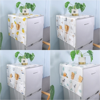 Wodoodporna lodówka osłona przeciwpyłowa z worek do przechowywania lodówka Protector pokrowiec na pralkę ręcznik kuchnia wystrój łazienki tanie i dobre opinie DREAM HOUSE CN (pochodzenie) Poliester bawełna JB0361 PRINTED Duszpasterska Washing Machine Covers Anti-dust Fridge Cover