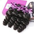 Luvin OneCut Hair Loose Wave 8- 30 28 30 Inch Brazilian Virgin Hair Natural Color 4 Bundles Deal 100% Human Hair Double Drawn
