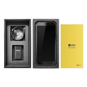 """Image 5 - AGM A9 עמיד למים 5.99 """"FHD + מסך Smartphone אנדרואיד 8.1 4GB 64GB 5400mAh רמקולים מכוונים Quest תשלום NFC OTG הסלולר"""