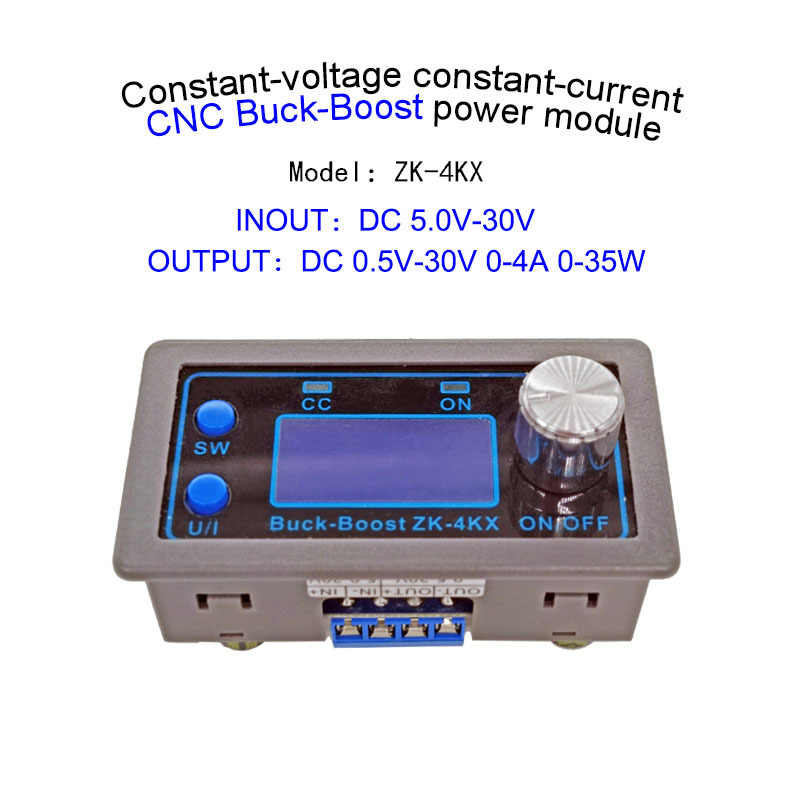 ZK-4KX DC DC Buck Boost Converter CC CV 0,5-30V 4A Power Modul Einstellbare Geregelte netzteil Für solar Batterie Lade