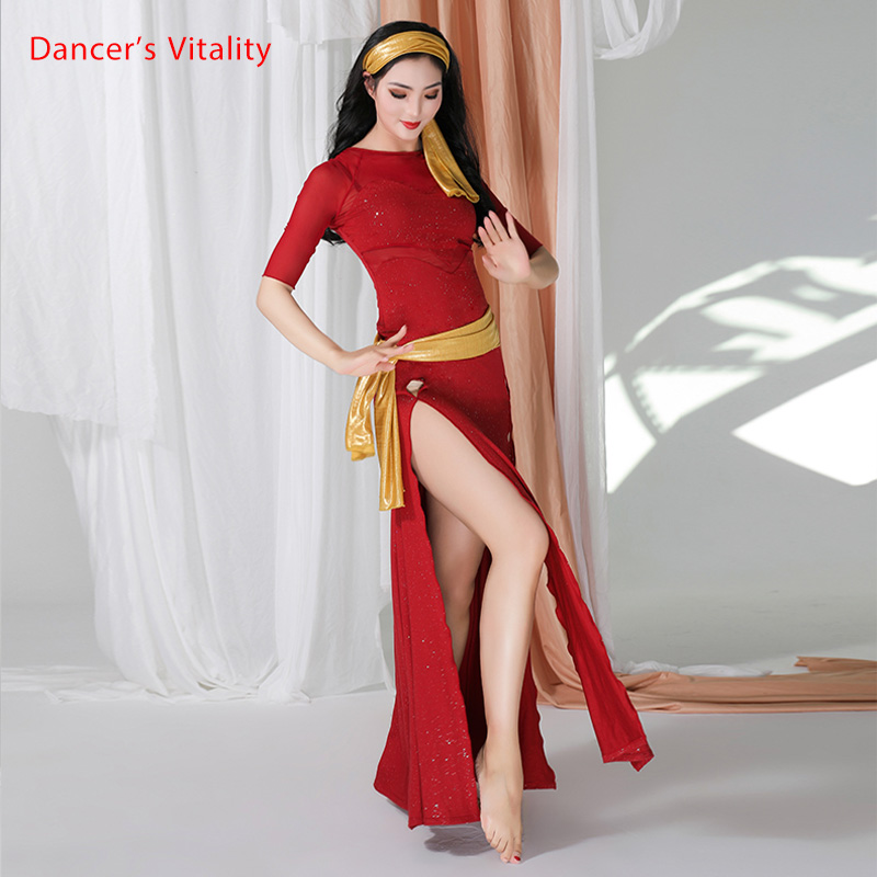 New Bellydance Clothes Baladi Dress 3 Pieces Sexy Shabbi Belly Dance Robe Oriental Dance Costume Wear For Women