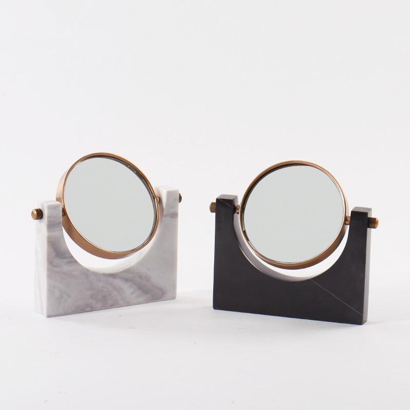 Copper Marble Base Dressing Table Mirror Modern Bedroom Bathroom Beauty Makeup