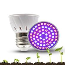 Светодиодный светильник для выращивания E27 E26 110V 220V Полный спектр лампы для выращивания лампа внутреннего освещения для теплиц для растений Vegs гидропонная система растений