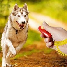 Przenośny kot szkolenia psów clicker Puppy Agility szkolenia Clicker przycisk trener z brelok pasek na rękę Pet narzędzie pomocy posłuszeństwa cheap DKSHETOY Sprzęt zwinność 33862 Z tworzywa sztucznego