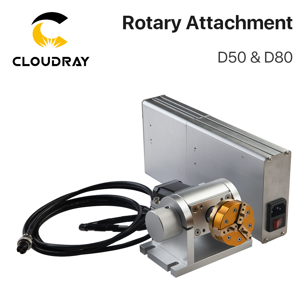 Cloudray Rotary Attachment Special For SamrtMarker Max Working Dia.50 & Dia.80 For Intelligent Marking Machines