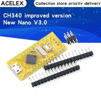 Nowy Nano V3.0 CH340 poprawiona wersja Atmega328P USB na TTL interfejs Micro