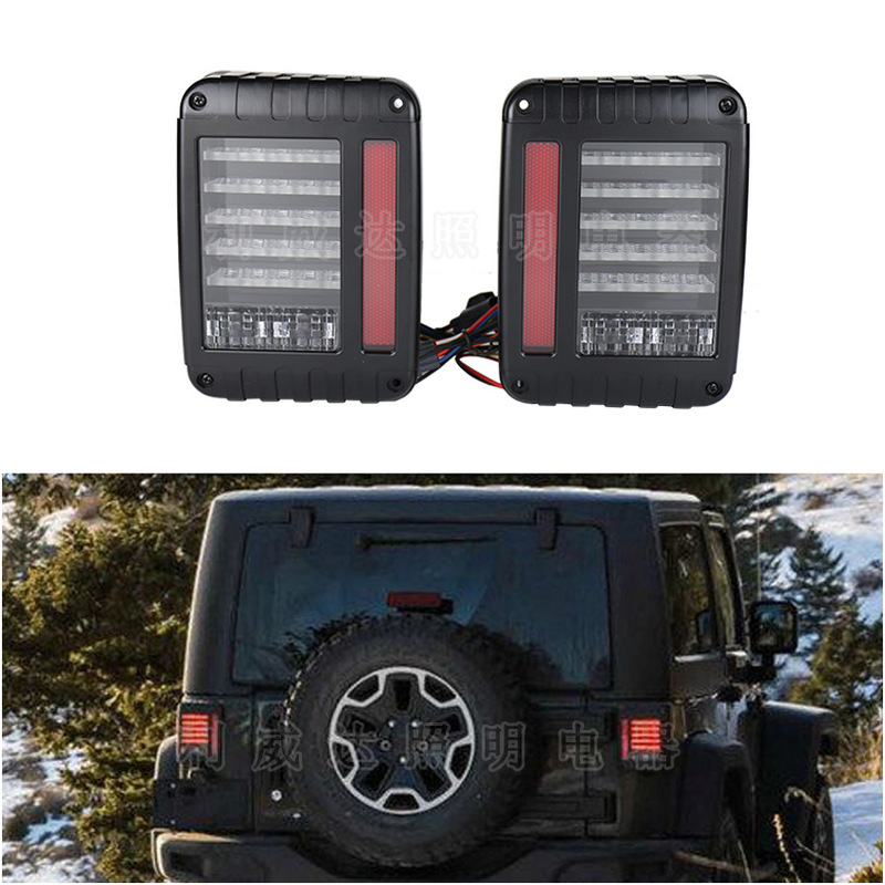 ODIFF With Driving Reverse Steering Brake Light LED Tail Light Jeep Wrangler Refit Special Tail Light