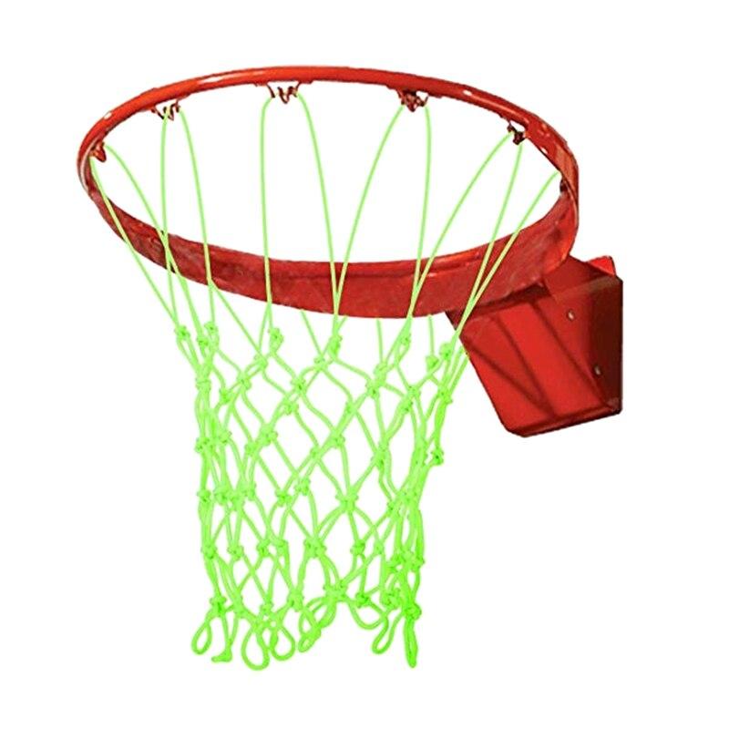 Nightlight Basketball Net Luminous Outdoor Glow In The Dark Portable Sun Powered Sports Nylon Glowing Night