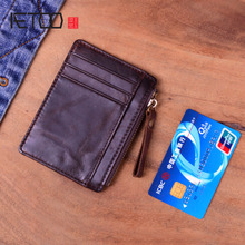 AETOO Genuine Leather Wallet Women Vintage Handmade Female Short Small Wallets Coin Purse Card Holder Case цена и фото