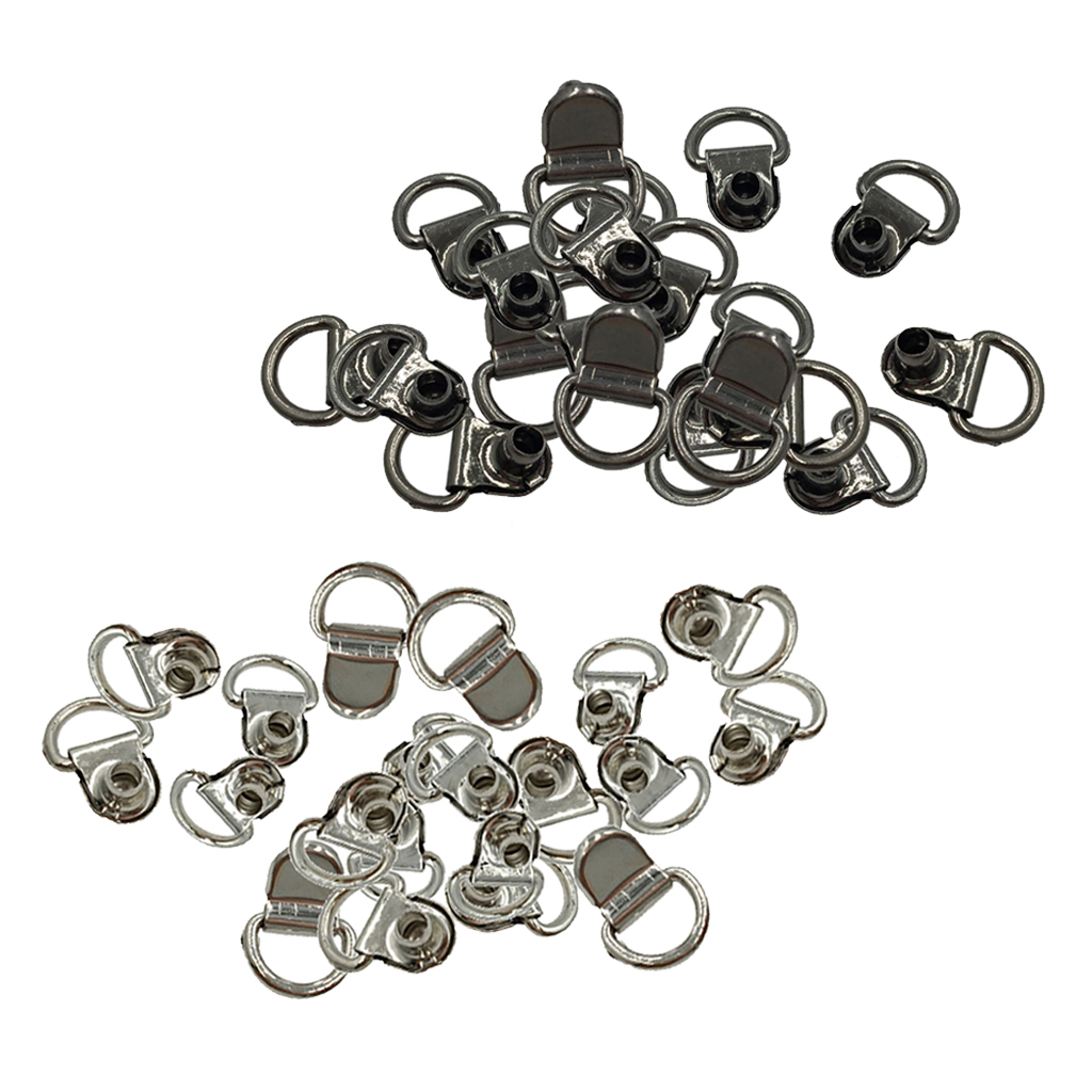 40Pcs Metal Boot Hooks Lace Fittings With Rivets For Camp Hike Climbing Repair Leather Boot Shoes Repair Buckle