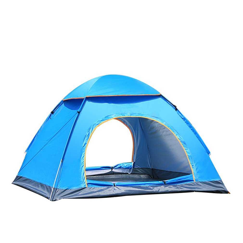 Outdoor Automatic Tents Camping Waterproof Tents 3-4 People Beach Camping Showers Speed Open Double Tent image