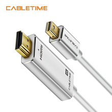 Cabletime Thunderbolt Mini DisplayPort to HDMI Cable 4K DP to HDMI Display Port Cable for 1080P TV Lenovo Computer MacBook N173 aiffect 4k mini dp to hdmi cable mini displayport to hdmi cable thunderbolt port hdmi mini dp cable cord line premium version