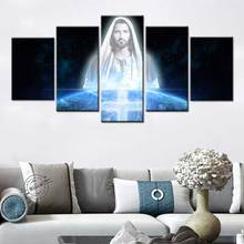 Jesus Poster Wall Art Canvas Painting Nordic modern Pictures For Living Room Home Decor Christian Church Decoration Paintings