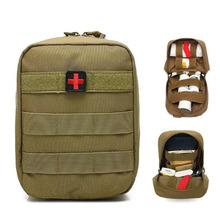 Molle Tactical pierwszej pomocy medycznej zestawy odkryty Camping piesze wycieczki wielofunkcyjny przenośny SOS zestaw pierwszej pomocy torba cheap Kinsmirat Polowanie NYLON
