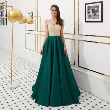 Sexy Dark Green Backless Evening Dresses Long 2019 vestidos de fiesta de noche Real Pictures A Line Off The Shoulder Prom Dress - DISCOUNT ITEM  18% OFF All Category