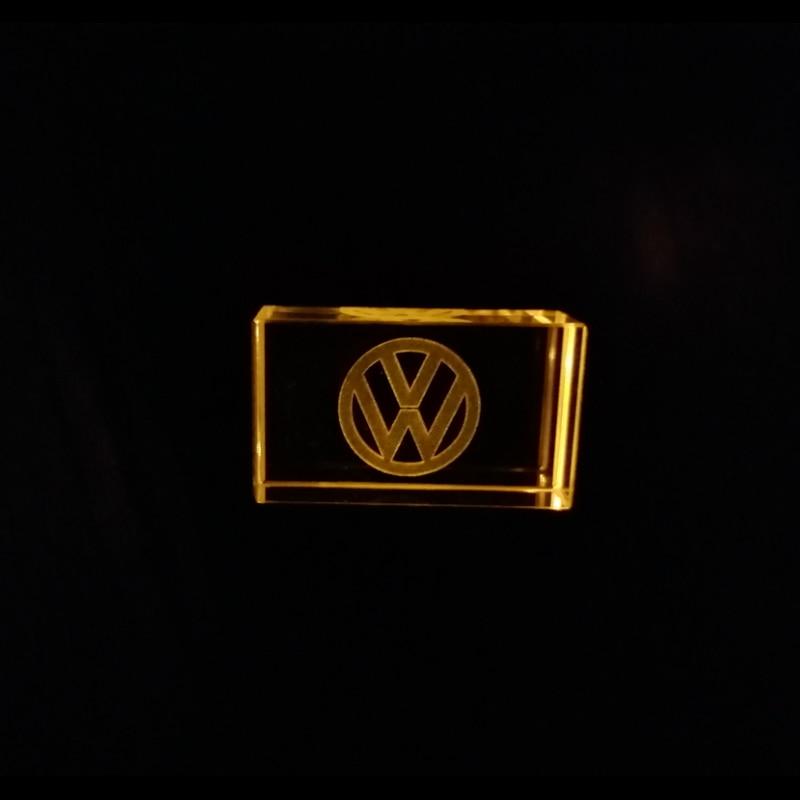 Volkswagen Kristal + Metalen USB Flash Drive Pendrive 128MB 4GB 8GB 16GB 32GB 64GB 128GB Externe Storage Drive Custom Your Logo