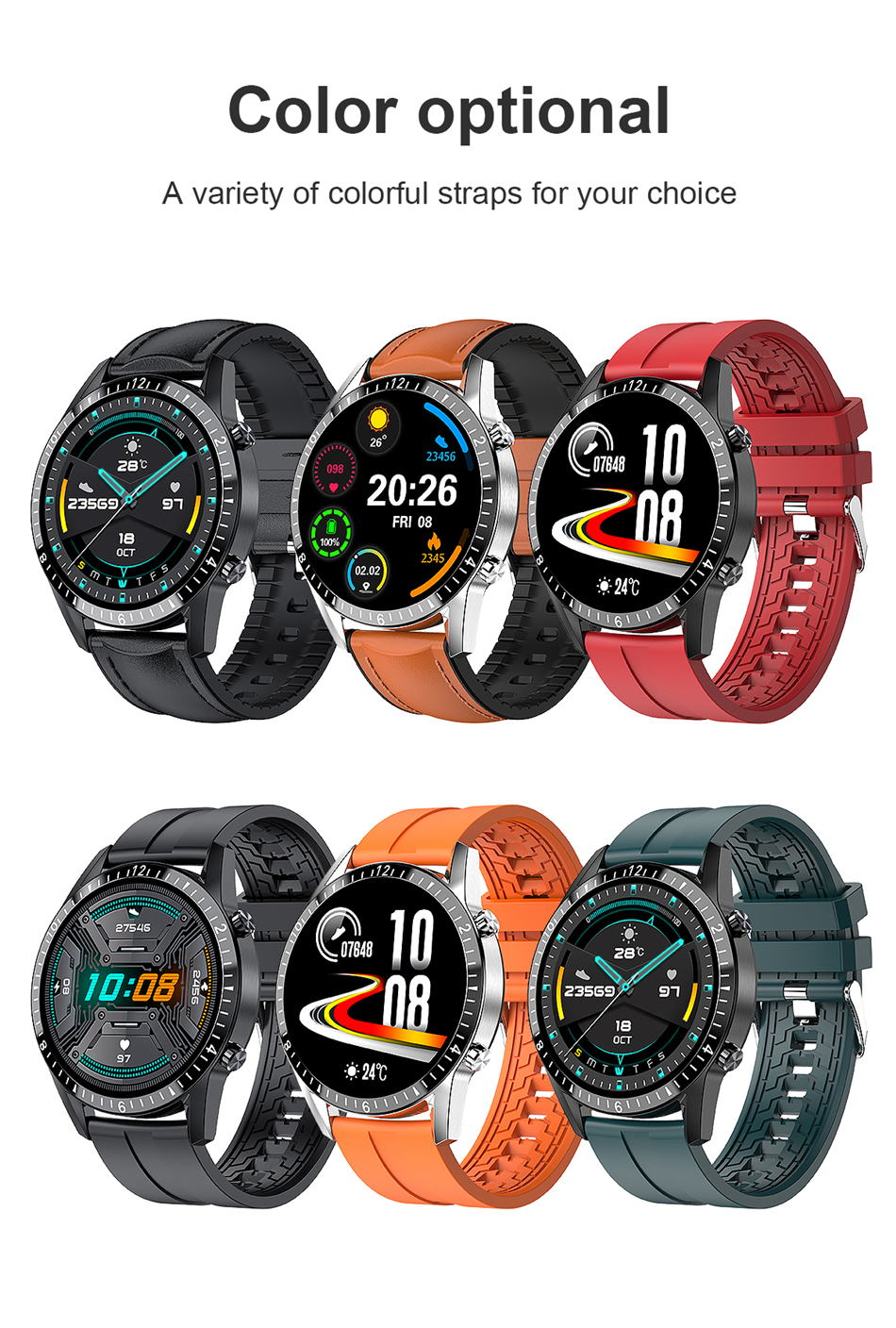 H35ba0d305ada4fd29e91e134d4eb7f3cJ 2021 Smart Watch Phone Full Touch Screen Sport Fitness Watch IP68 Waterproof Bluetooth Connection For Android ios smartwatch Men