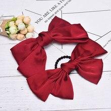 Bowknot Clip de pelo de moda sólido lazo grande cuerda de pelo niñas dulces accesorios para el cabello