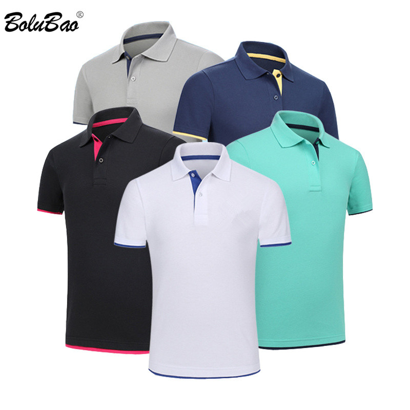 BOLUBAO New Men Casual Polo Shirt Fashion Brand Men's Solid Color Polo Shirt Summer New Male Lapel Polo Shirts Tops