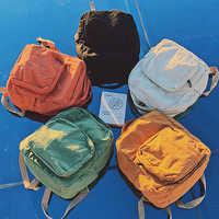 2019 koreański wersja plecak prosty płótno torba podróżna dla kobiet moda wszechstronny solidny kolorowy plecak Student Zipper School Bag