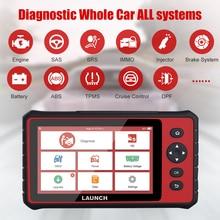 LAUNCH X431 CRP909 OBD2 أداة تشخيص السيارات Wifi أنظمة كاملة السيارات الماسح الضوئي ABS SAS DPF EPB إعادة تعيين النفط OBD 2 الماسح الضوئي الغسيل