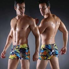 цена Hot Sales Vintage Allover - Print Elastic Band With Ties Sexy Swim Trunk 2019 Big Men Plus Size XXX men's Swimwear онлайн в 2017 году