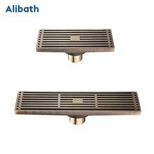 цена на Drain 8*30CM Euro Antique Brass Art Carved Floor Drain Cover Shower Waste Drainer Bathroom Bath Accessories Strainer.