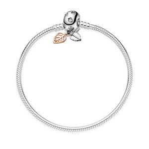 Браслет в форме сердца 925 пробы с серебряной змеей, браслет с бусинами, очаровательные браслеты для женщин, Подходит для Pandora, оригинальный Е...