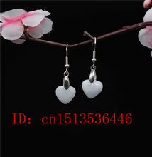 Wholesale Natural Emerald Axe Love Apple Gourd Earrings DIY Handmade Charm Jewellery Fashion Man Women Luck Gifts Amulet(China)