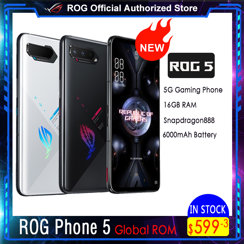 ASUS ROG Phone 5 | 5 Pro | Ultimate 5G Snapdragon888 Android11 6000 мАч быстрой зарядки 65 Вт ROG5 профессиональный игровой чехол для телефона
