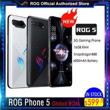 ASUS telefon ROG 5   5 Pro   Ultimate 5G Snapdragon888 Android11 6000mAh szybkie ładowanie 65W profesjonalny telefon do gier ROG5