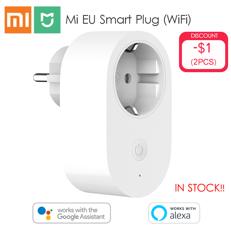 Xiaomi Mijia EU Smart Socket Plug Remote Control Time Switch Intelligent Memory Power-saving Works With Alexa/Google Assistant