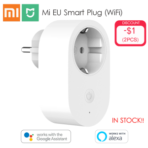 Xiaomi Mijia EU Smart Socket Plug Remote Control Time Switch Intelligent Memory Power-saving Works with Alexa/Google assistant(China)