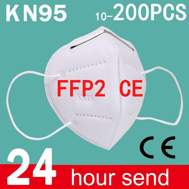 ffp2 Face mask KN95 Mouth Mask Safety Antibacterial Maske 95% Filtration mask protect dust mask ffp2mask Fast Shipping