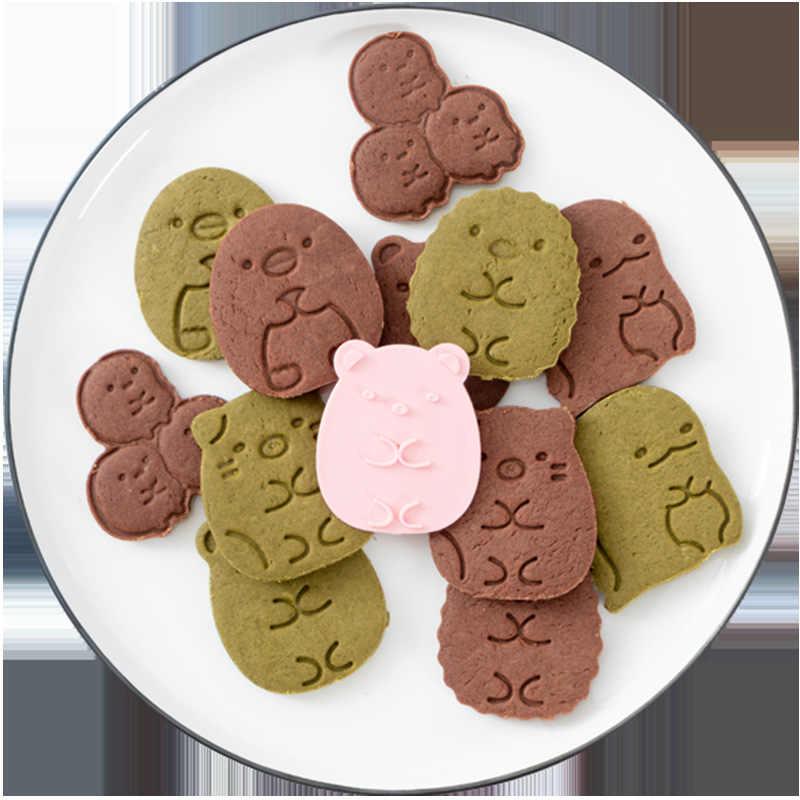 6 pçs/pçs/set cortadores de biscoito cortador fondant plástico canto bio forma molde biscoito diy fondant pastelaria decoração cozimento ferramentas