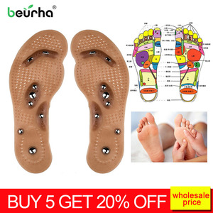 1pair detox slimming acupressure slimming insoles anti cellulite insoles fat removal foot massager magnetic weight loss machine