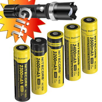 Wholesale NITECORE 18650 3.7V Li-ion Protected Rechargeable Battery NL1823 NL1826 NL1832 NL1834 NL1835 Button Top for Flashlight