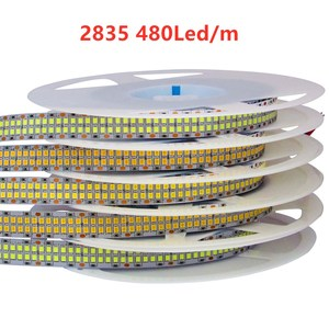 LED Strip Light 12V 24V Tape Diode 2835 5M Warm Warm White 600 1200 2400 LED chips 12V 24V LED TV Christmas Light Strip Rope