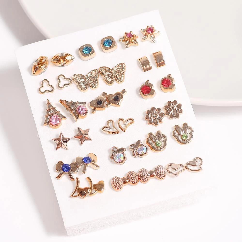 Animal Lobster Acrylic Stone Crystal Stud Earrings Jewelry Nice Red