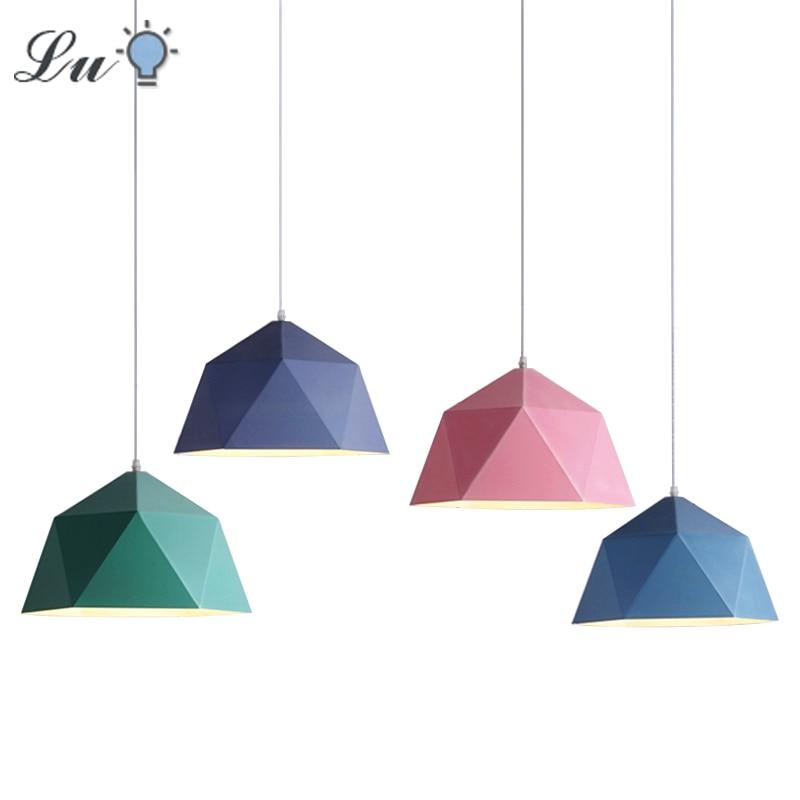 Nordic LED Iron Pendant Lights E27 Living Room Indoor Lighting Pendant Lamps Restaurant Cafe Decor Hanging Lamp Kitchen Fixtures