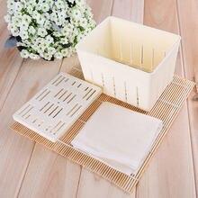 Heißer verkauf kunststoff soja rot maschine DIY hausgemachte tofu drücken form box käse montage form küche kochen werkzeug set convenien