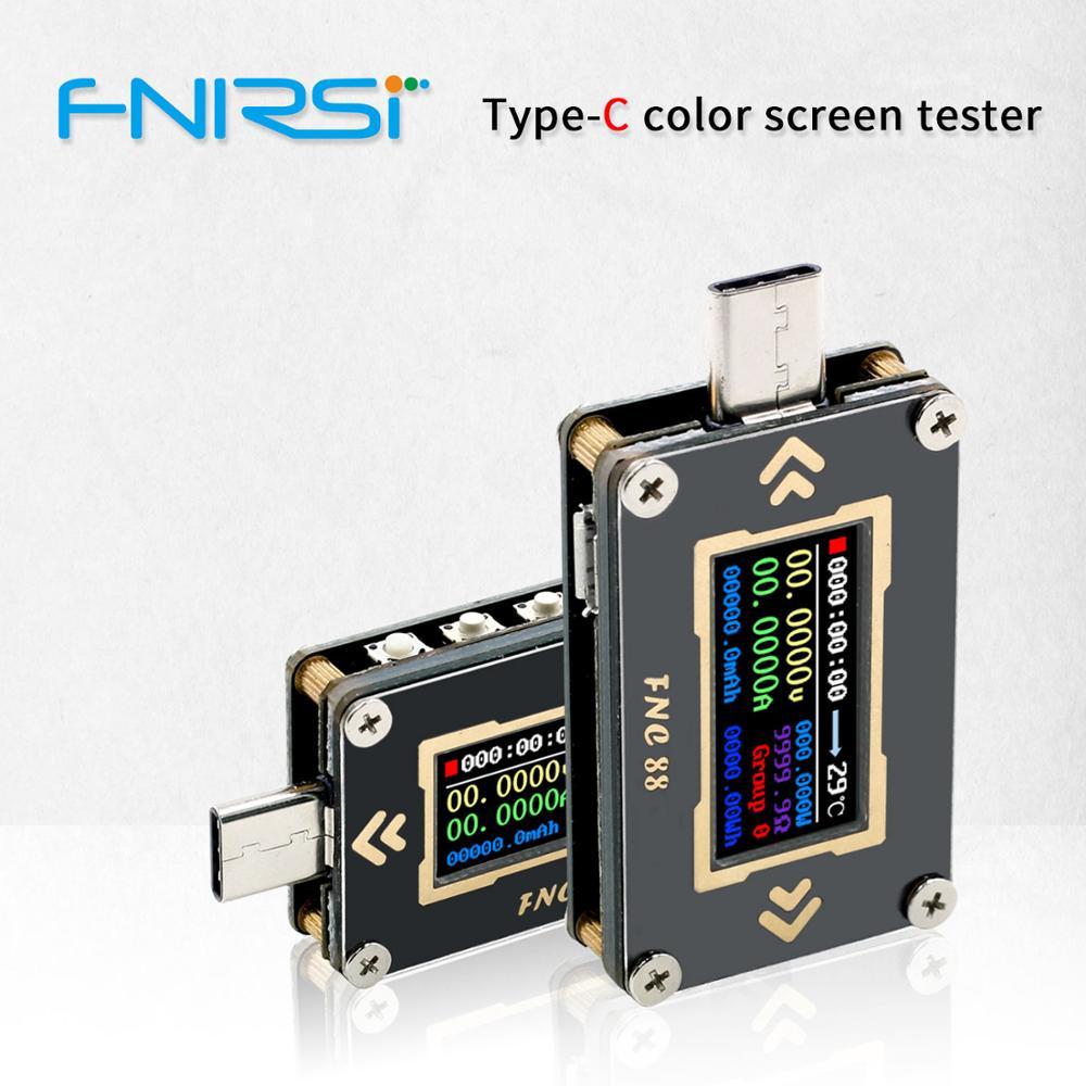 Aletler'ten Voltaj Ölçerler'de FNC88 tip c PD tetik USB C voltmetre ampermetre gerilim 2 yönlü akım metre multimetre PD şarj pil USB test cihazı title=